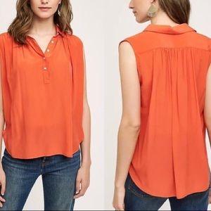 Anthropologie Maeve Haddie Silk Blouse size XL